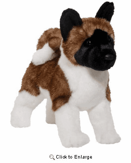 Akita Plush Stuffed Animal 16 Inch