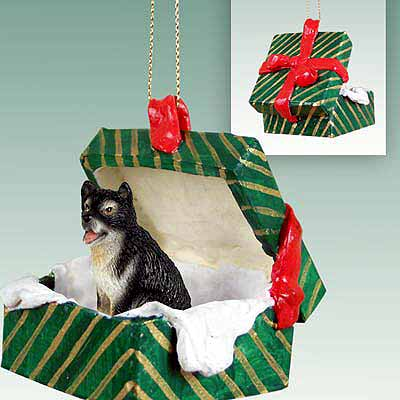 Alaskan Malamute Gift Box Christmas Ornament