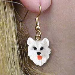 American Eskimo Dog Authentic Earrings