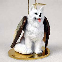 American Eskimo Dog Christmas Ornament Angel