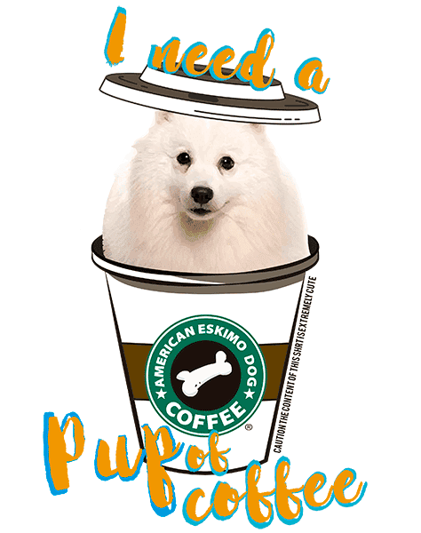 American Eskimo Dog T Shirt - Coffee Mug