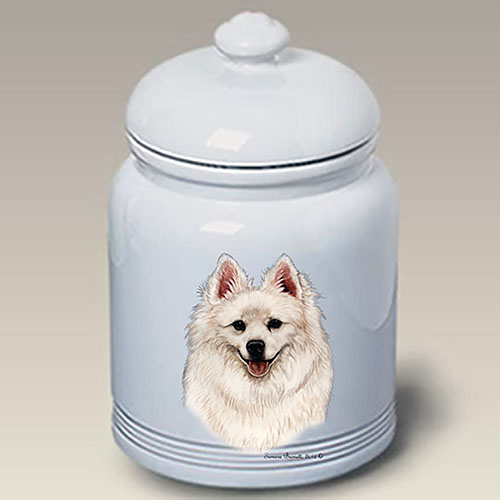 American Eskimo Dog Treat Jar