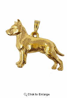 American Staffordshire 24K Gold Plated Pendant