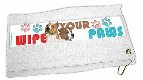 American Staffordshire Terrier Paw Wipe Towel