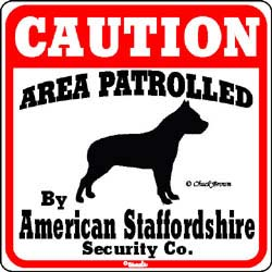 American Staffordshire Terrier Caution Sign