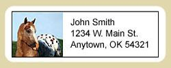 Appaloosa Horse Address Labels