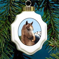 Appaloosa Horse Christmas Ornament Porcelain