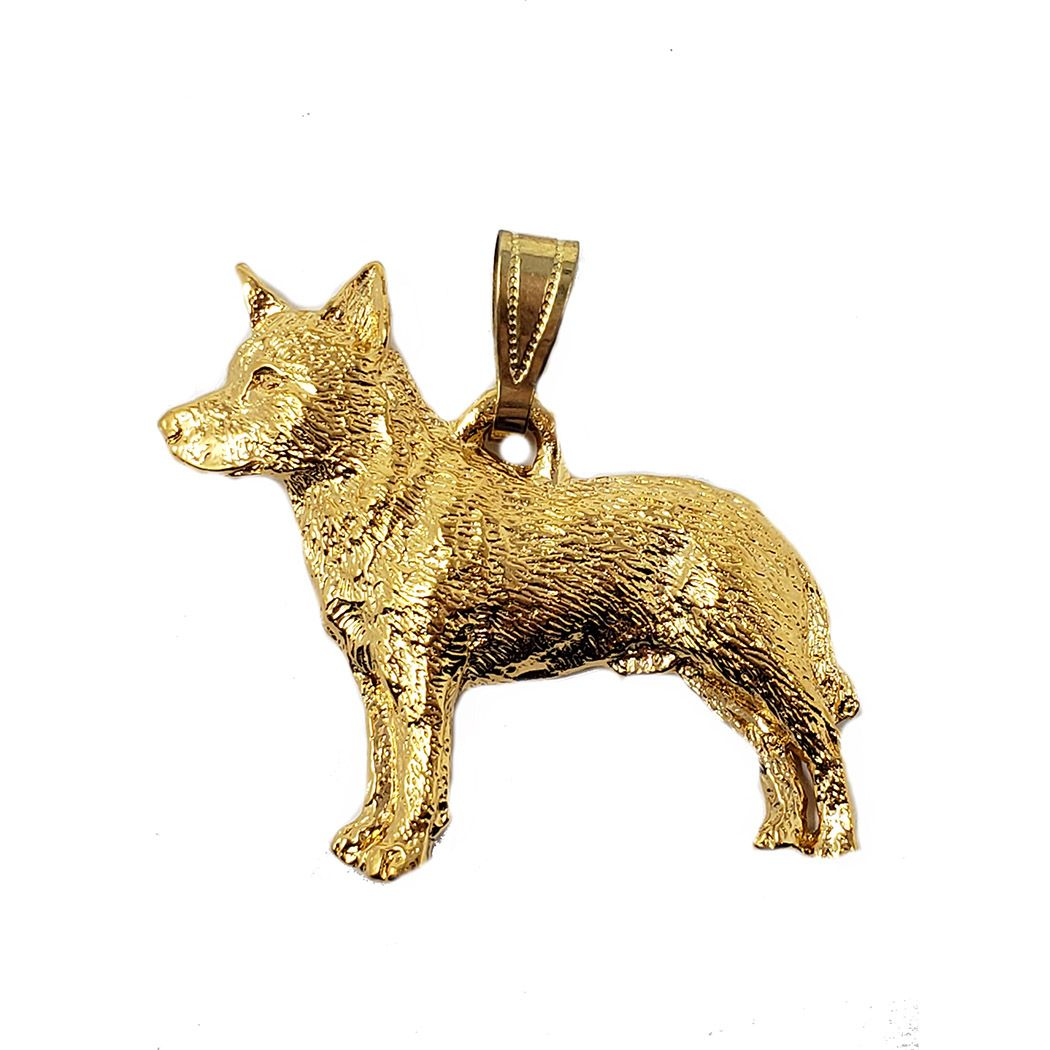 Australian Cattle Dog 24K Gold Plated Pendant