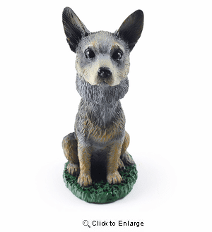 Australian Cattle Dog Bobblehead Blue