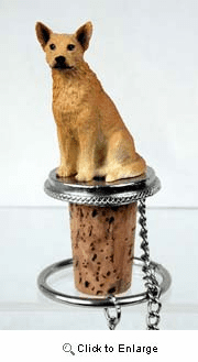 Australian Cattle Dog Bottle Stopper (Red)