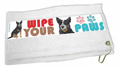 Australian Cattle Dog Paw Wipe Towel