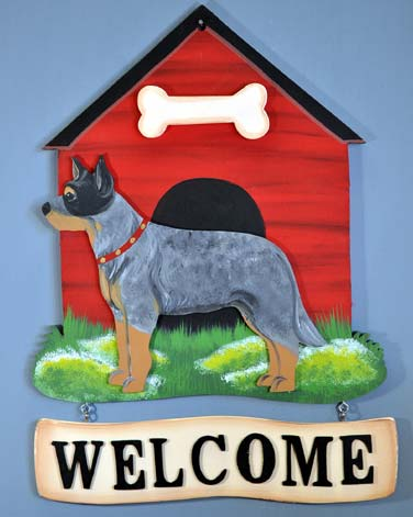 Australian Cattle Dog Welcome Sign