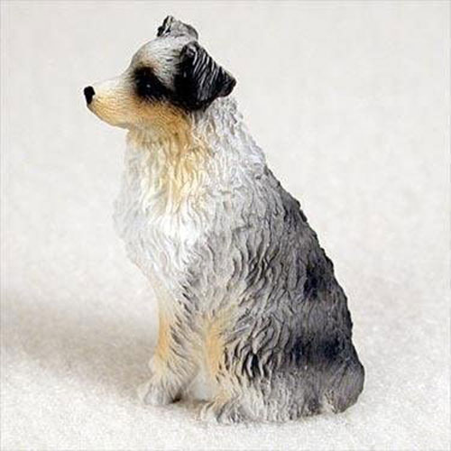 Australian Shepherd Blue Docked Miniature Figurines