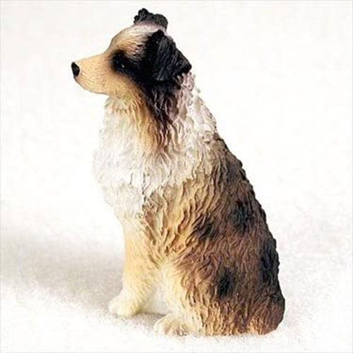 Australian Shepherd Brown Docked Miniature Figurine