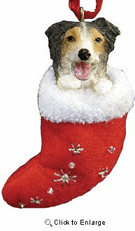 Australian Shepherd Christmas Stocking Ornament