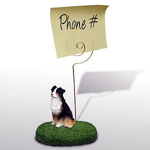 Australian Shepherd Note Holder (Tricolor)