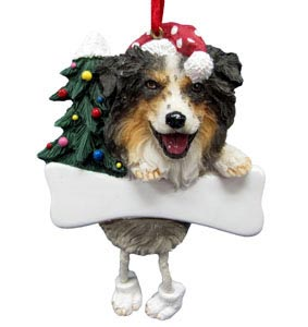 Australian Shepherd Christmas Tree Ornament - Personalize