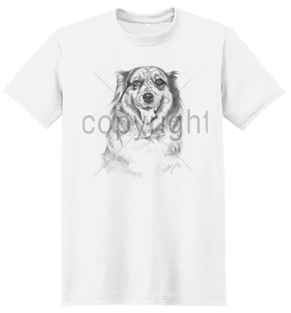 Australian Shepherd T Shirt by Kelly Six