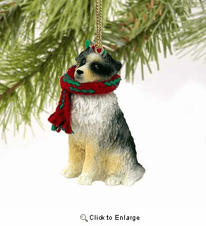 Australian Shepherd Tiny One Christmas Ornament Blue