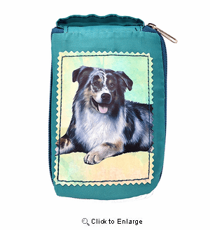 Australian Shepherd Tote Bag - Foldable to Pouch