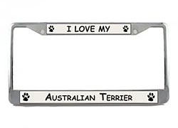Australian Terrier License Plate Frame