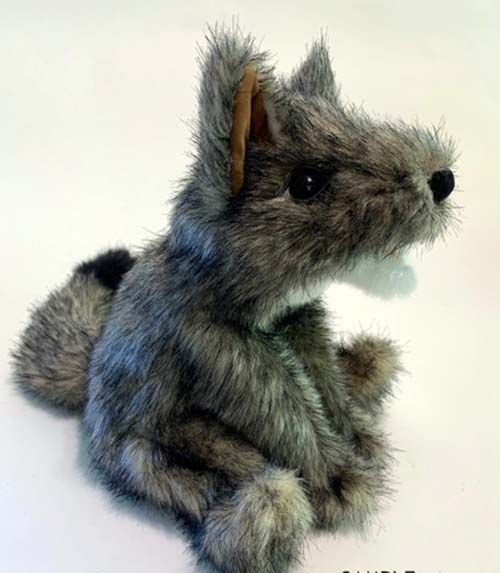 Folkmanis Baby Coyote Hand Puppet Plush 8