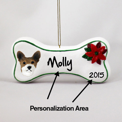 Basenji Personalized Dog Bone Christmas Ornament