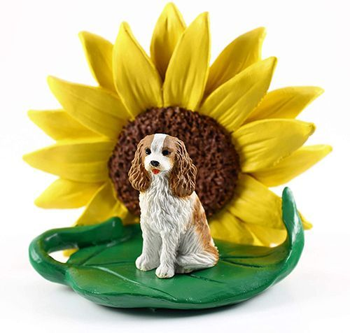 Cavalier King Charles  Sunflower Figurine