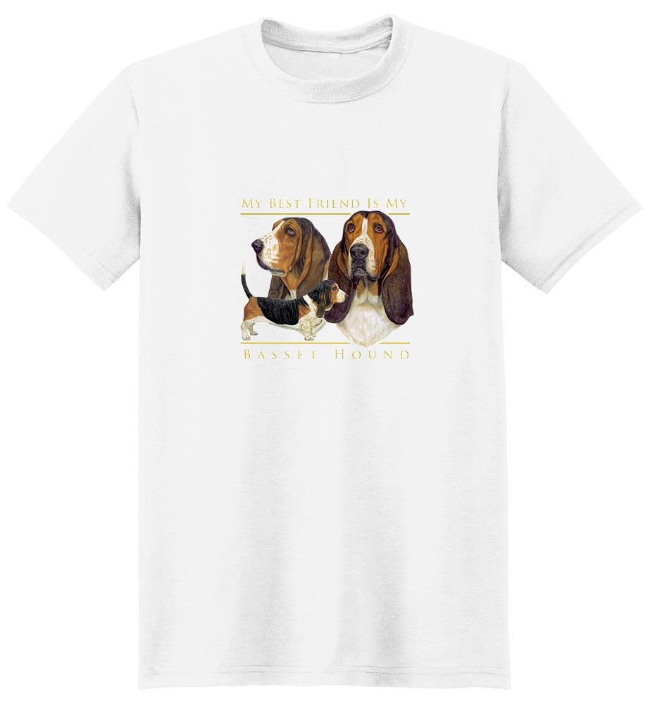 Basset Hound T-Shirt - My Best Friend Is
