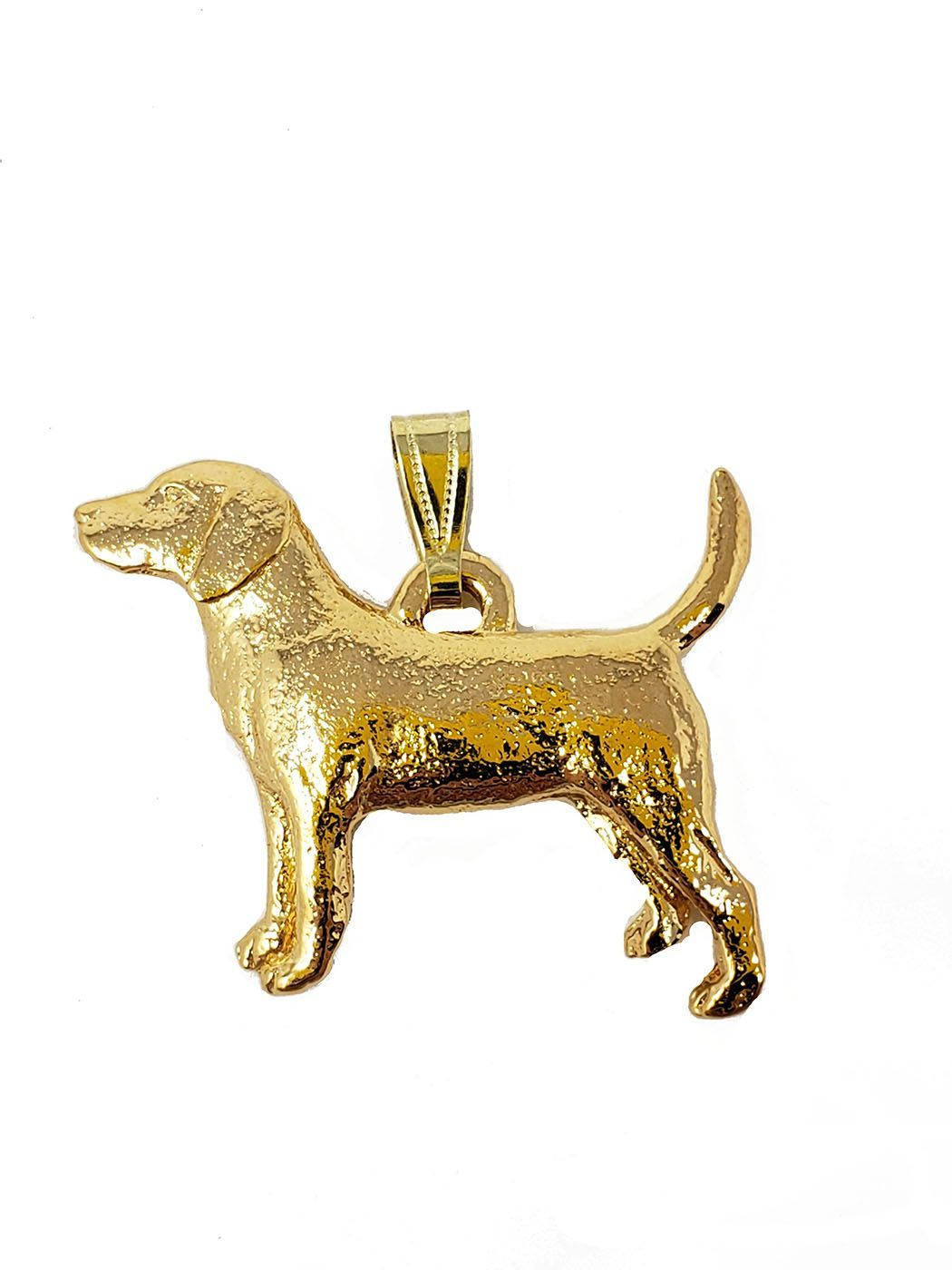 Beagle 24K Gold Plated Pendant