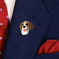 Beagle Pin Hand Painted Resin