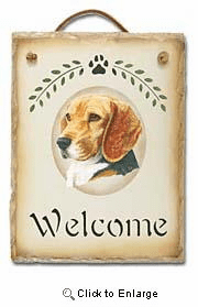 Beagle Slate Welcome Sign