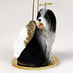 Bearded Collie Christmas Ornament Angel