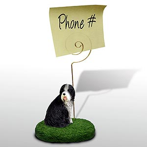 Bearded Collie Note Holder