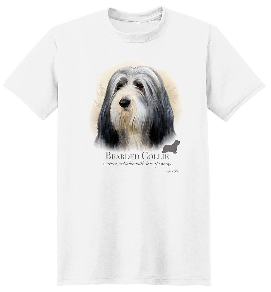 Bearded Collie T Shirt by Howard Robinson