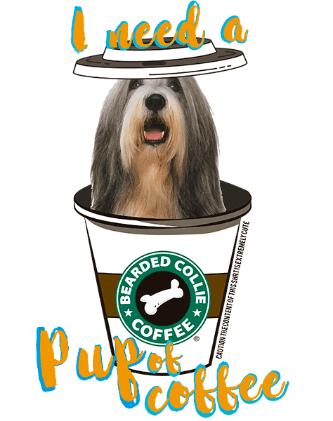 Bearded Collie T Shirt - Coffee Mug