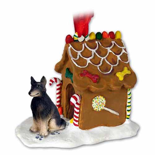 Belgian Tervuren Gingerbread House Christmas Ornament