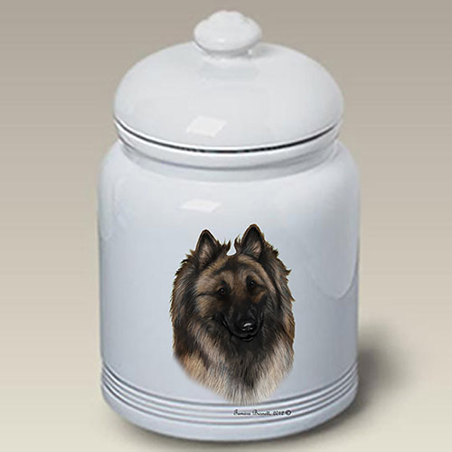 Belgian Tervuren Treat Jar