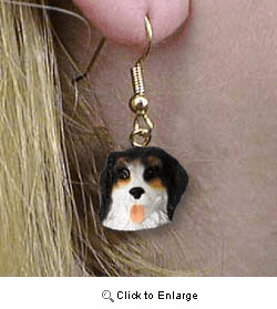 Bernese Mountain Dog Authentic Earrings