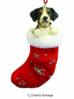 Bernese Mountain Dog Christmas Stocking Ornament