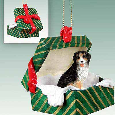 Bernese Mountain Dog Gift Box Christmas Ornament