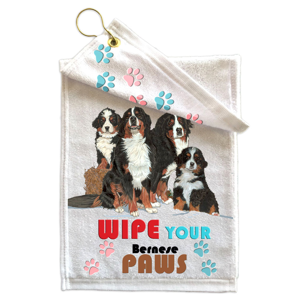 Bernese Mountain Dog Paw Wipe Towel