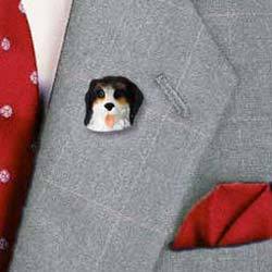 Bernese Mountain Dog Pin Hand Painted Resin