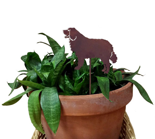 Bernese Mountain Dog Plant Stake