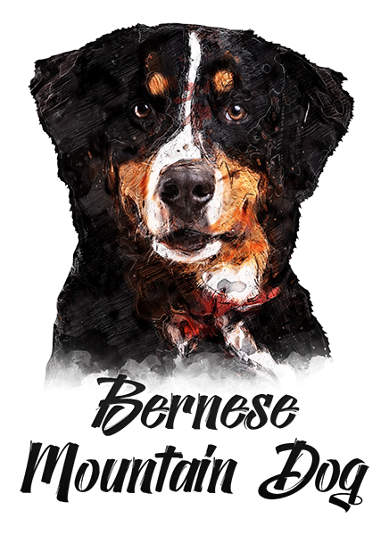 Bernese Mountain Dog T-Shirt - Vivid Colors