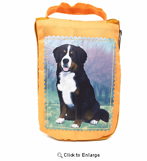 Bernese Mountain Dog Tote Bag - Foldable to Pouch
