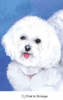 Bichon Frise House Flag