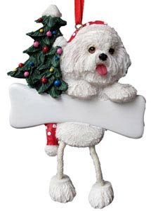 Bichon Frise Christmas Tree Ornament - Personalize