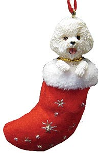 Bichon Frise Christmas Stocking Ornament