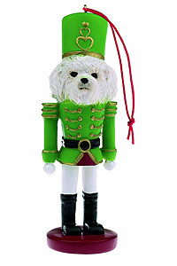 Bichon Frise Ornament Nutcracker